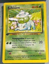 MINT 1st edition bulbasaur shadowless base set pokemon French 1999
