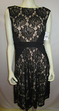 DANNY & NICOLE BLACK LACE DRESS SIZE 4NEW WITH TAG