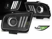Coppia di Fari Lenticolari per Ford Mustang 2004-2009 Tube Light Neri IT LPFO75-
