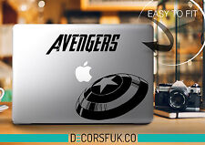 AVENGERS MacBook adesivi in vinile nero | Laptop Adesivi | MacBook Decalcomanie