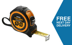 Tolsen Tape Measure 8M | Heavy Duty Nylon Coated | Manufacturer Guarantee