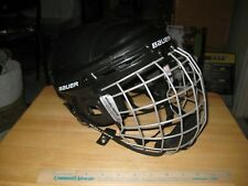 New listing Bauer Hh2100S Black Ice Hockey Helmet Youth Small 6 1/2 - 7 1/8 Cage included