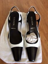 ESCADA Shoes Black & White  Slingback 7.5 NEW $799