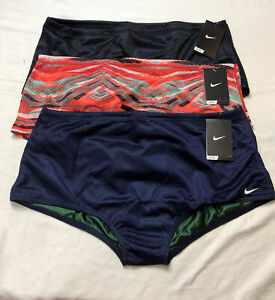 LOT OF 3 Nike SIZE 36 Mens Mesh REVERSIBLE Drag short breif Suit
