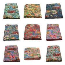 Reversible Kantha Deco Indian Blanket Throw Bedspread Cotton Farida Khalo Quilt