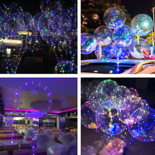 5 Pack Led Bobo Zodight Transparent Bubble Birthday Party LED Light Up Balloons