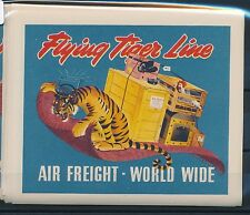 06756) Luftpost Vignette Air Mail label Flying Tiger Line AIR FREIGHT World Wide