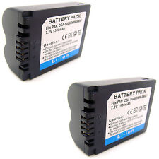 2x Battery For PANASONIC CGR-S006 CGR-S006A/1B CGR-S006E CGR-S006E/1B DMW-BMA7