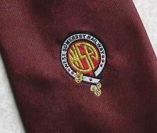 West Somerset Railway Cravatta Vintage 1970s 1980s Borgogna retro treno Locomozione