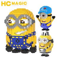 Baukästen HC Anime Minions Diamond Mini Geschenk Spielzeug Modell Kind