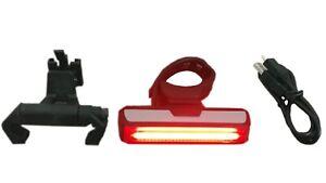 Claud Butler Solar 27 USB Rechargeable Rear Bike Light - HELMET HOLDER INCLUDED