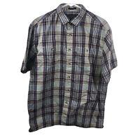 Pendleton Santiam Men's Large Plaid Short Sleeve Collared Button Down Shirt