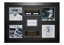 More details for babe ruth signed ltd edition framed picture memorabilia