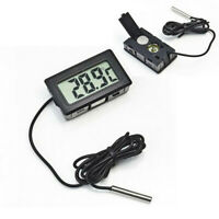 US Mini LCD Digital Thermometer Electronic Temperature Instrument Freezer Meter