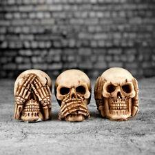 Speak No, Hear No, See No Evil Set of 3 Skulls Skull Skeleton Fantasy Ornament