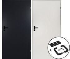 kuporta Stahltür Mehrzwecktür Kellertür Garagentür Eingangstür weiß / anthrazit