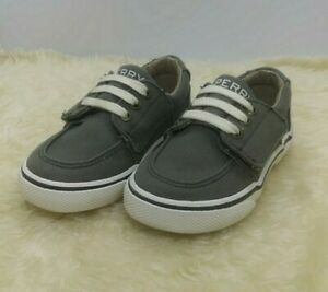 Sperry Ollie Top Sider Deck Shoe Sneaker Toddler Boys Green Khaki Size 6M NICE!!