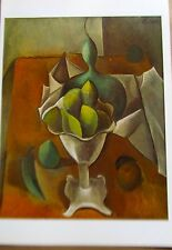 Pablo Picasso Poster Fruit Dish  Offset Lithograph Unsigned 16x11 Still Life