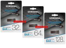 Samsung 32GB 64GB 128GB 256GB USB Flash Drive BAR Plus USB3.1 Up to 200MB/s BE4