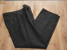 "HUGO BOSS Mens Dark Grey Smart Trousers 96% Virgin Wool + Stretch Size 34""w"