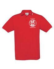 Bomberos Estampado Camiseta Polo, B&c Azafrán Polo con Kragen.