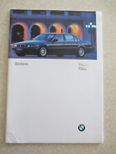 Original 1997 BMW 740i/iL & 750iL series automobile advertising booklet