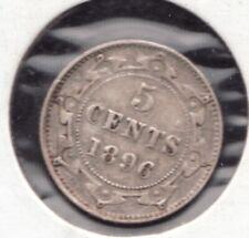 1896 Newfoundland 5 Cent Silver coin -  Superfleas - Very fine - cv $33