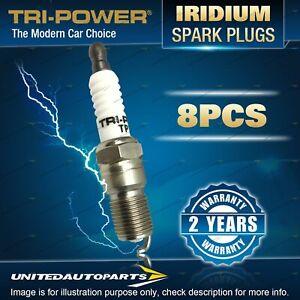 8 x Tri-Power Iridium Spark Plugs for Hsv XU8 VT195i 5.0L V8 OHV LB9 1999