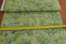 By 1/2 Yd, Green on Green Quilt Shop Batik, Hoffman/840-331, Herb, B453