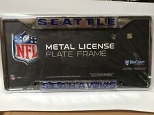 Seattle Seahawks Metal Frame Acrylic Inlaid Mirror License Plate Frame - NFL
