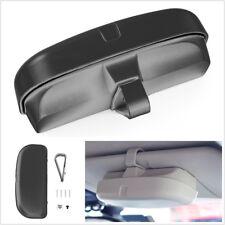 1XBlack ABS Car Off-Road Sun Visor Sunglasses Eyeglasses Glasses Holder Case Kit