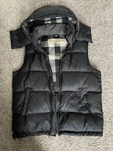 Burberry Vest Mens Hooded XL Black(read Description)