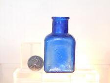 ANTIQUE BOTTLE COBALT BLUE PEPTENZYME RARE 1.5 OZ CHEMIST OLD BOTTLE 1890's