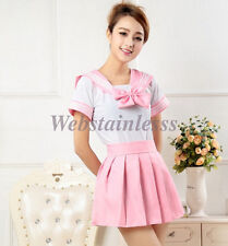 Japanese School Girl's Dress Outfit Sailor Uniform Cosplay Costume Fancy Dress