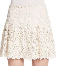 Alice Olivia Jayce Natural Lace Skirt  NWT Sz 6 $330