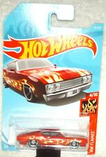 Hot Wheels 2018 HW Flames Series '69 Ford Torino Talladega red,excellent card
