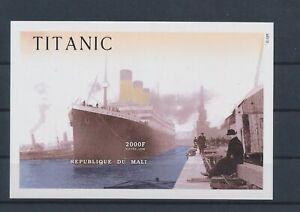 LO08935 Mali Titanic ocean liner ships imperf sheet MNH