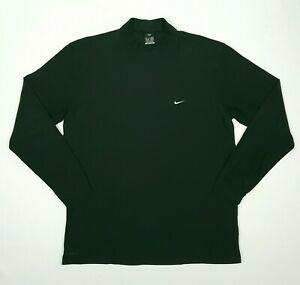 NIKE FIT-DRY Mens Long Sleeve Shirt XL Black Mock Neck RN# 56323 Workout Running