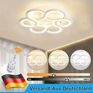 43W LED Deckenleuchte Dimmbar Deckenlampe Wohnzimmer Lampe mit Fernbedienung