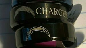 Los Angeles Chargers Titanium Ring, styles #1 & #2 sizes 7-13