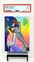 2000 Fleer E-X Refractive HOF Yankees DEREK JETER Baseball Card PSA 9 MINT Pop 3