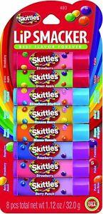 Lip Smacker Ladies Womens 8 Pack of Skittles Lip Balms