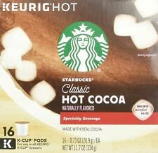 Starbucks Classic Hot Cocoa Kcup 16 Pods Box Keurig Brewers 2.0 1.0 exp 08/2020