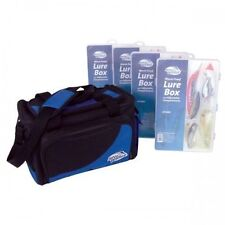 Jarvis Walker Soft Sided Storage Bag With 4 Lure Boxes Fishing Tackle