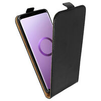 Vertical flip case, synthetic leather case for Samsung Galaxy S9 Plus - Black