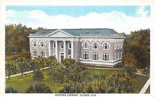 A85/ Deland Florida Fl Postcard c1915 J.B. Stetson University Library Building 2