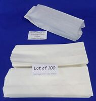 "Qty 100 Hot Dog Paper Bags Concession Machine supplies 3"" x 2"" x 8.75"""