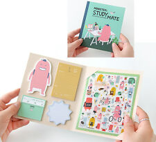 Monster's 3D Design Dairy Decor Sticker with Sticky Memo Bookmark Note