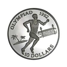 elf Solomon Isl 10 Dollars 1991 Olympics Running