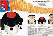 E- Publicité Advertising 1968 (2 pages) Frites Friteuse electrique SEB